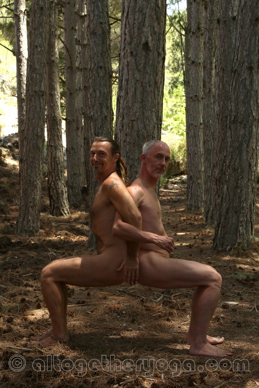 Naked yoga for men London. Paired Woods Chair