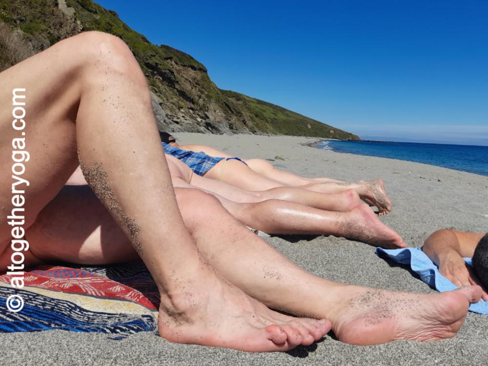 Altogethr Yoga. Cornwall Yoga Holiday. Beach